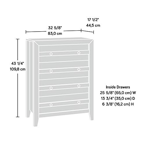 home, kitchen, furniture, bedroom furniture,  dressers 7 image Sauder Dakota Pass 4-Drawer Chest, Craftsman Oak in USA