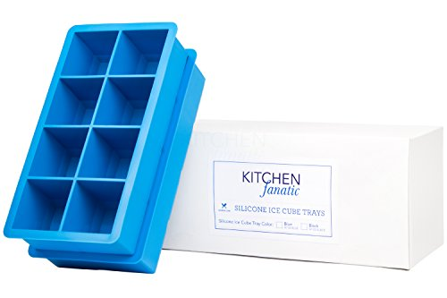 Kitchen Fanatic Large Ice Cube Tray - 2 Pack - 2 Ice Cubes Will Keep Your Drink Cold for Hours - BPA Free