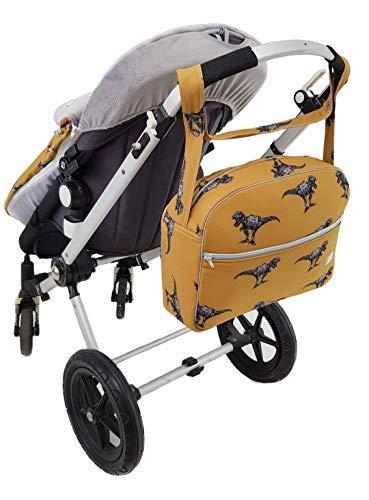 Maxi bolso para carrito de bebé en ecopiel impermeable. Modelo Floral rosa: Amazon.es: Bebé