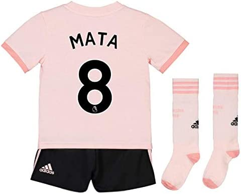 152b9d38a49 UKSoccershop 2018-19 Man Utd Away Mini Kit (Juan Mata 8)  Amazon.co.uk   Sports   Outdoors