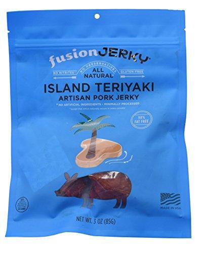 Fusion Jerky - All Natrual - 3 Ounce Bag (Island Teriyaki, 3 (Island Fusion)