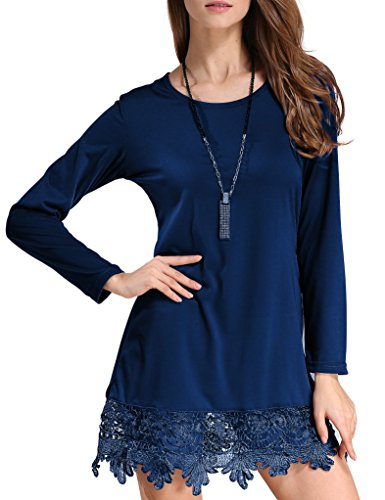 Match Women's Long Sleeve Lace Casual Dress(X-Large, BBX-8191 - Short Cotton Casual