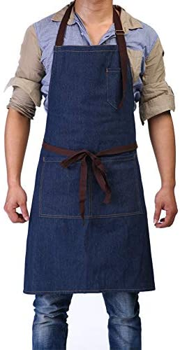 Adjustable Bib Apron Pockets Carpenters product image