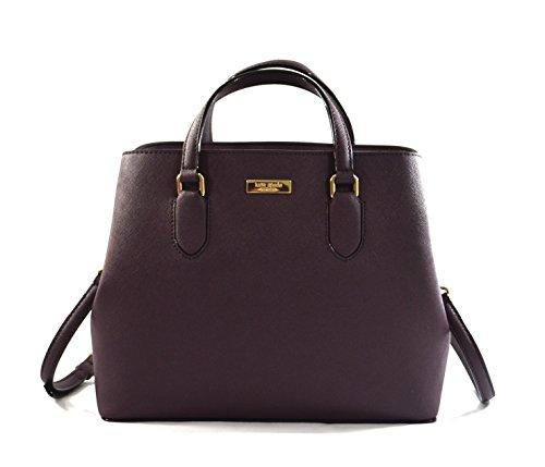 Kate Spade New York Laurel Way Evangelie Saffiano Leather Shoulder Bag Satchel (Mahogany/Wine) by Kate Spade New York