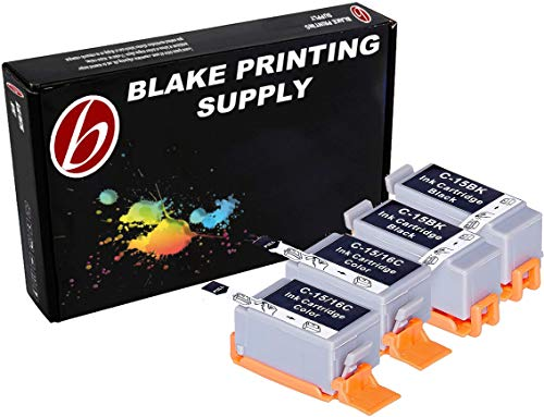 4 Pack Compatible Canon BCI-15 2 Black, 2 Tri Color for use with Canon Canon i70, i80. Ink Cartridges for inkjet printers. BCI-15-BK, BCI-15-C © Blake Printing ()