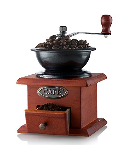 Gourmia GCG9310 Manual Coffee Grinder Artisanal Hand Crank Coffee Mill