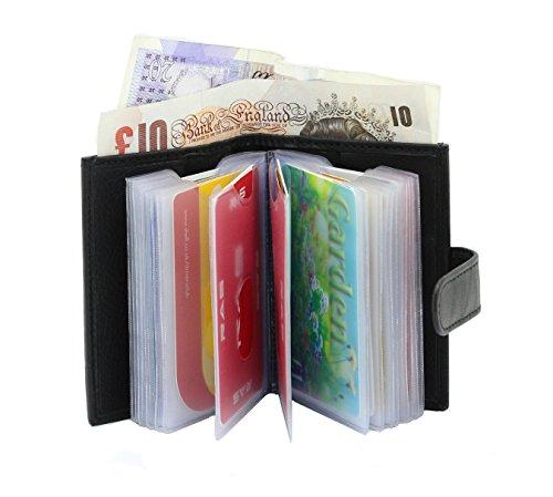 Fentes Portefeuille Souple Billet Transparent avec Banque Autres Noir Ras® De Pour 601 Plastique Crédit 20 Black Cuir En 4 Poches Véritable Compartiment Carte Cartes 57w7RqXZ