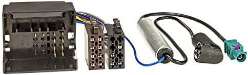 Radio Adapterkabel passt für Citroen Peugeot Quadlock Phantomspeisung Fakra ISO