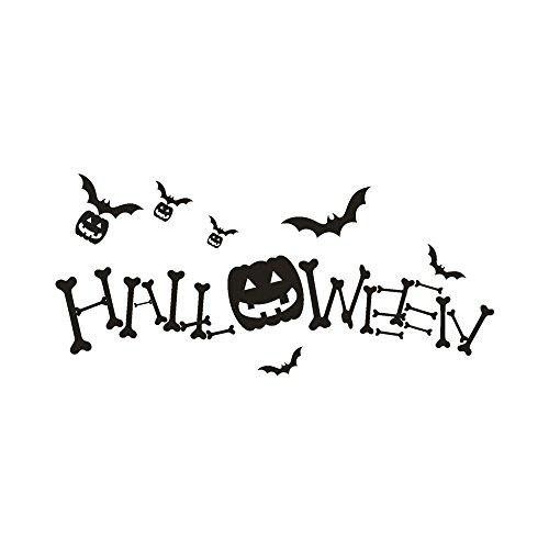 Halloween Window Pumpkin Clings Wall Decals Sticker Decoration for Store Kids Room Décor (Black)