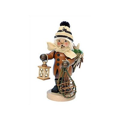 1-189 - Christian Ulbricht Incense Burner - Boy with Snowshoes and Toys in Backpack - 1..5''''H x 5''''W x 6.75''''D by Christian Ulbricht