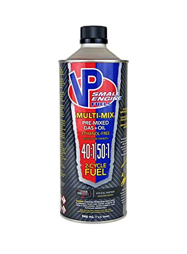 VP Small Engine Fuels 6818 Ethanol-Free JASO-FD Multi-Mix 40:1/50:1 2-Cycle Fuel - Case of 8 (32 oz) ()