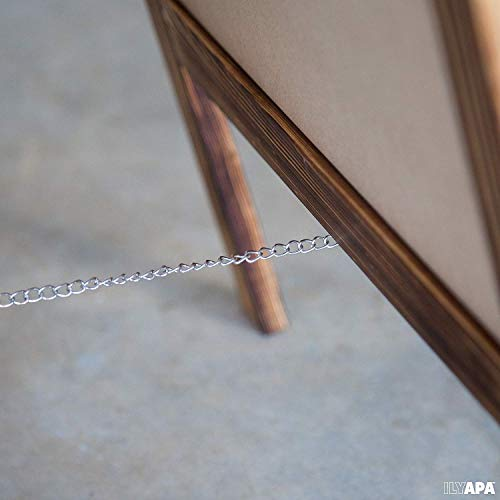 Wooden A-Frame Sign with Eraser & Chalk - 40'' x 20'' Magnetic Sidewalk Chalkboard – Sturdy Freestanding Sandwich Board Menu Display for Restaurant, Business or Wedding by Ilyapa (Image #1)