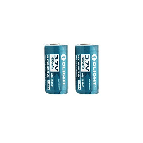 Olight 16340 RCR123A 3.7V Rechargeable Li-ion Battery (Pair) for S10, M10 etc(216340) by OLIGHT