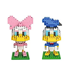 Gooband Donald Duck / Daisy Duck – Pack of 2 LOZ Nanoblock Collection Total 420pcs