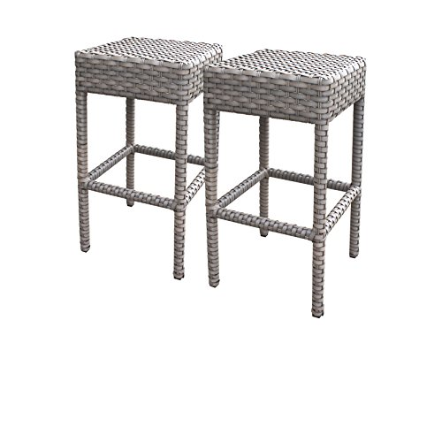 TK Classics Oasis 2 Piece Backless Barstools, Grey Stone Review