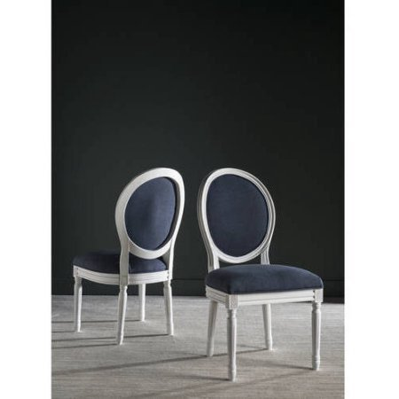 Safavieh Holloway Oval Side Chair, Navy Set of 2