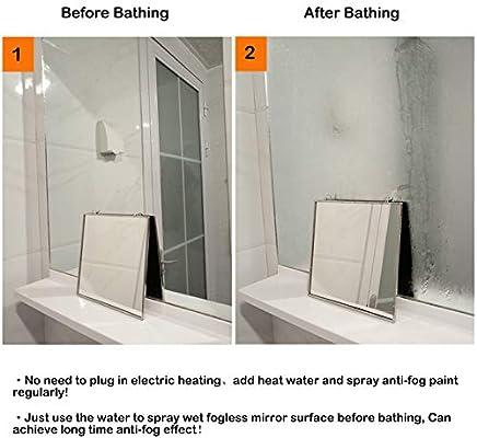 Amazon.com: Espejo de ducha sin niebla, espejo de ducha ...