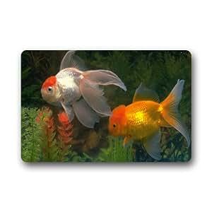 Peces nadando imagen personalizado Felpudo (23.6x15.7()