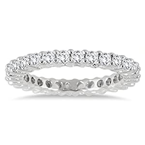 1 Carat TW Diamond Eternity Band in 10K White Gold