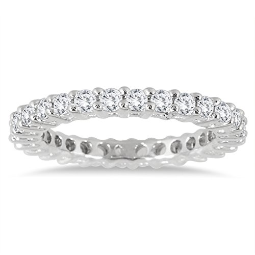 10K White Gold Diamond Eternity Band (.81 – .99 CTW)
