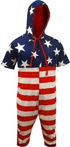 Onesie Mens Suit (Americana Cropped Union Suit Onesie)