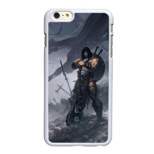 U5D76 Diablo P9S5GT coque iPhone 6 Plus de 5,5 pouces cas de couverture de téléphone portable coque blanche IJ6SNL1VJ