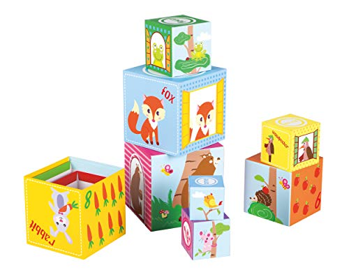 Fat Brain Toys Woodland Friends Stacking Cubes