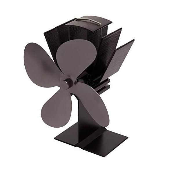 LDM Ventilatore per Stufa a Legna - 4 Pale - Ventilatore per Stufa a Legna Alimentato a Legna - Riscaldamento Ecologico… 4 spesavip