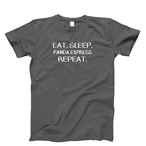 Eat  Sleep Panda Express Repeat  T Shirt  Mens  Grey Large