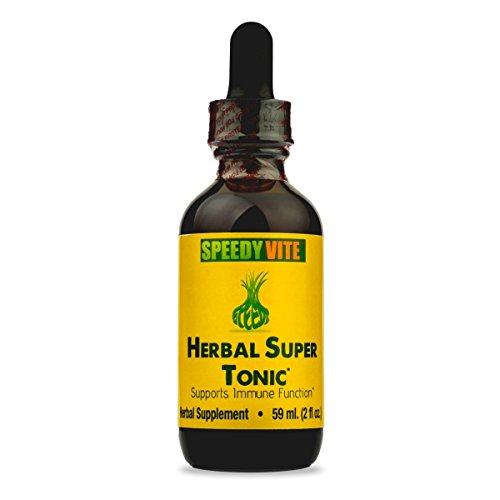 SpeedyVite Herbal Super Tonic [Enhanced] Organic -Apple Cider Vinegar Horseradish Onion Garlic Ginger Serrano Cayenne Habanero Pepper Supports Immune Function* ★Made in USA (1 x 2 fl (Lymph Tonic)