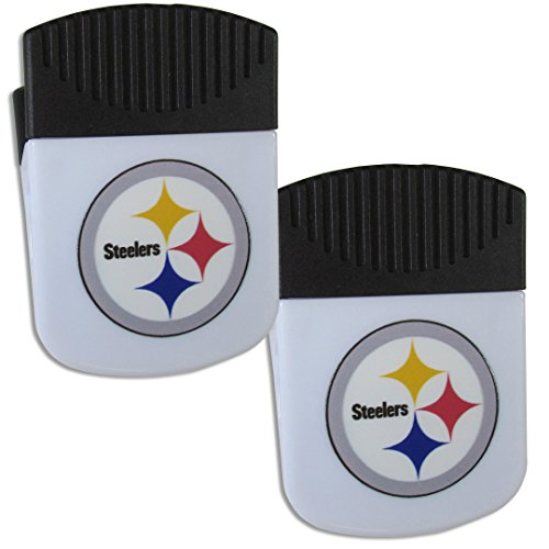 (Siskiyou NFL Pittsburgh Steelers Chip Clip Magnet with Bottle Opener, 2 Pack)