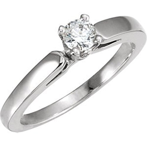 [White Gold Cathedral Engagement Polished Ring or Band Mounting] (Cathedral Ring Mounting)
