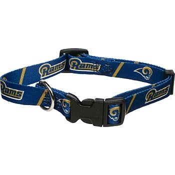 Hunter MFG St. Louis Rams Dog Collar, Large, My Pet Supplies