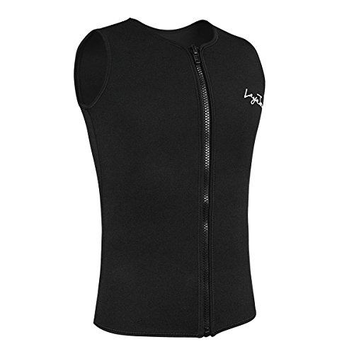 Layatone Wetsuits Men's Wetsuits 3mm Neoprene Zipper Diving Vest (Black, - Neoprene Top Wetsuit Mens