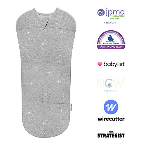 Sleepea Swaddle by Happiest Baby - 100% Organic Cotton (Graphite Gray, Small)