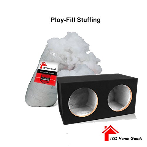 IZO Home Goods Polyfill Stuffing 100% Polyester Fiber Speaker Cabinet Sound Damping Material 2 lb. Bag
