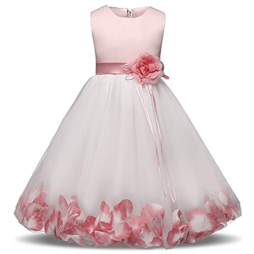 Fairy Flower Girl Dresses for Wedding First Holy Communion Dress for Girls Children Kids Party Tulle Costume Girl Frocks 10 Years,As Picture1,12M