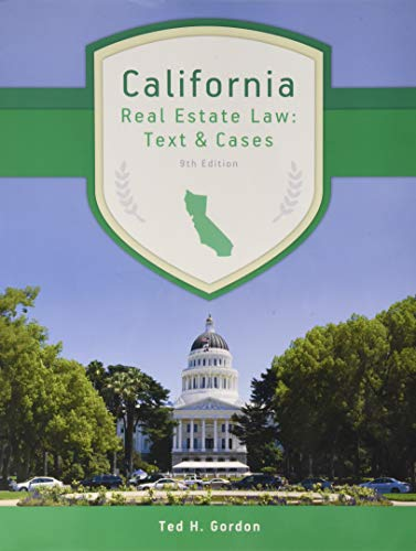 California Real Estate Law: Text and Cases (Best Law Schools For Tax Law)