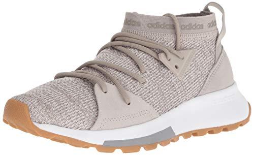 adidas Women's Quesa Running Shoe, Clear Brown/Light Granite, 6 M US