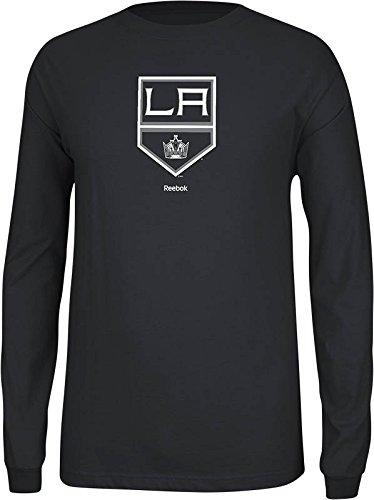 NHL Los Angeles Kings Men's Jersey Crest Long Sleeve Tee, Medium, Black
