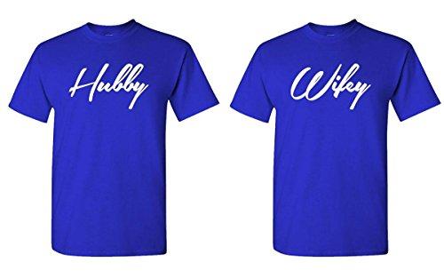 HUBBY WIFEY Couples T Shirt Combo