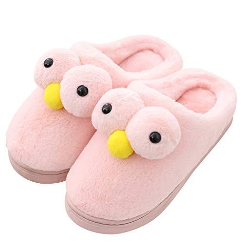 Weibliche Pink Plüsch Baumwollpantoffeln Schuhe AMINSHAP 35 Modelle Red Unterseite Halbe Niedliche Indoor mit Hause Monat Packung Farbe 36EU Rutschfeste größe Dicke 54nWnAxq