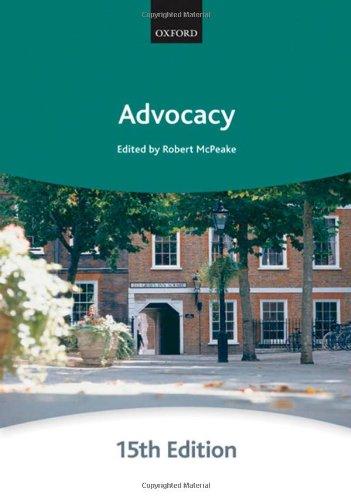 Advocacy (Bar Manuals)