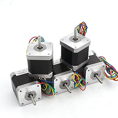 5Pcs Nema17 Stepper Motor 78oz-in 48mm 1.8A 4 Wire Stepping Motor for CNC Router Milling Machine/3D Printer