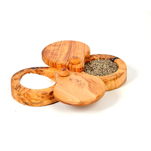 large wooden bowl with lid - 5