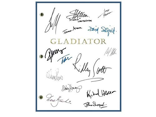 NHMug Gladiator Movie Script Autographed Poster Funny Gift Ideas Men Woman [No Framed] Poster Home Art Wall Posters (16x24) -