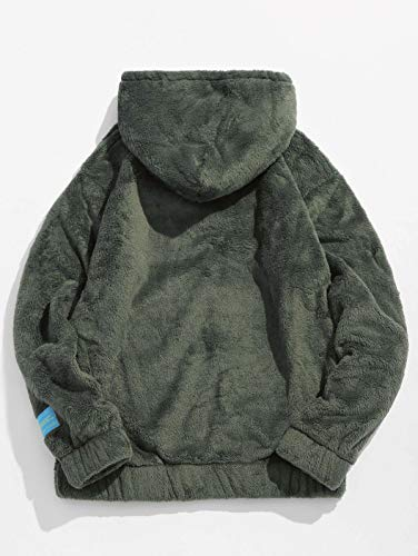À shirt Homme Vert Capuche Longues Manches Sweat Militaire Zaful wAqaEE