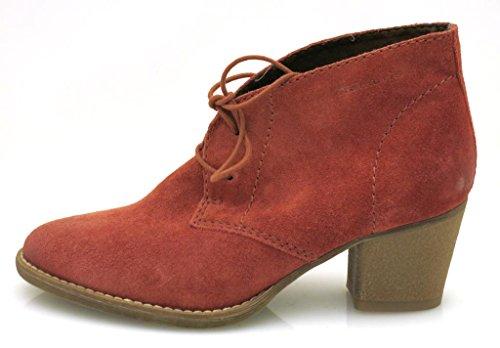 Tamaris de barco de cordones zapatos de tacón de tobillo de mujer - Cobre