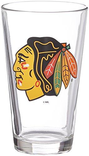 Boelter Philadelphia Phillies Glass - NHL Chicago Blackhawks Satin Etch Pint, 16-ounce, 2-Pack