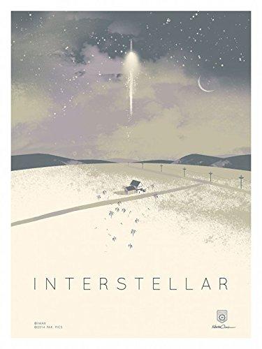 Interstellar Original Promo Movie Poster 2014 Imax Version Christopher Nolan